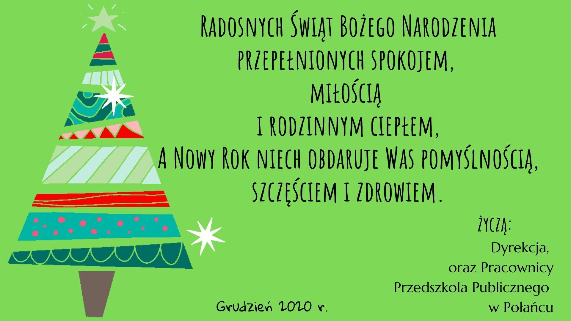 Życzenia Bożen Narodzenie 2020 n