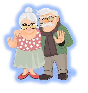 Babcia i dziadek zdjecie 2021